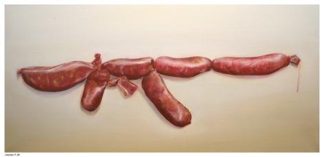 Spanish kalashnikov,2011.Óleo sobre  lienzo 100x 50 cm . (3)