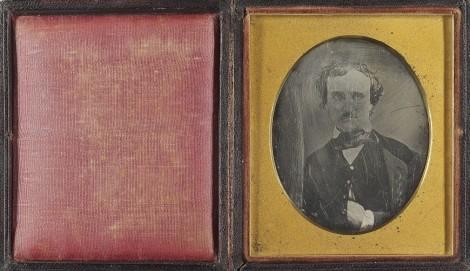 NON-Morgan Daguerreotype of Edgar Allan Poe (head and shoulders portrait), Private Collection (Susan Jaffe Tane Collection)