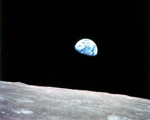 6. Amanecer terrestre. Fotografía: Apollo 8