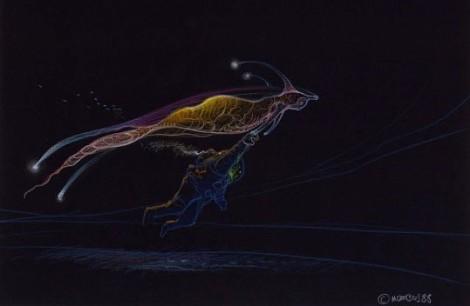 Ilustración de Moebius para la película Abyss (1989)