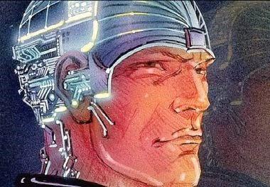 Diseño de Moebius para la película Tron (1982)