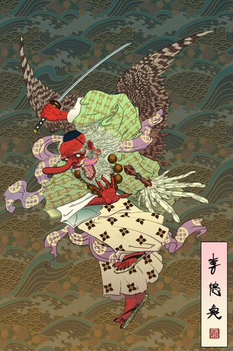 Tengu, demonio japonés que se relaciona con los extranjeros en la cultura popular y local
