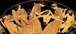 Mitos griegos: Dionisio (Baco) y sus Bacantes dios del vino y de la sangre, de lo atroz y lo voraz