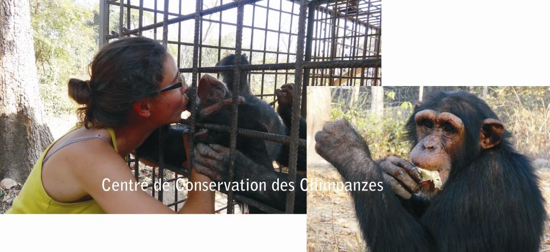 Kirikou comiendo (derecha) y recibiendo cosquillas (izquierda)