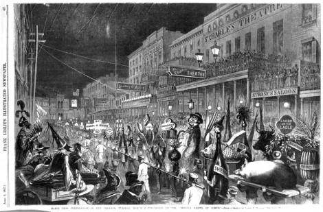 1867, desfile de la Mistick Krewe of Comus